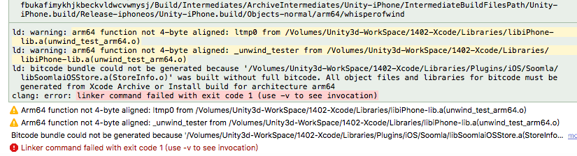 XCode – Bitcode bundle could not be generated